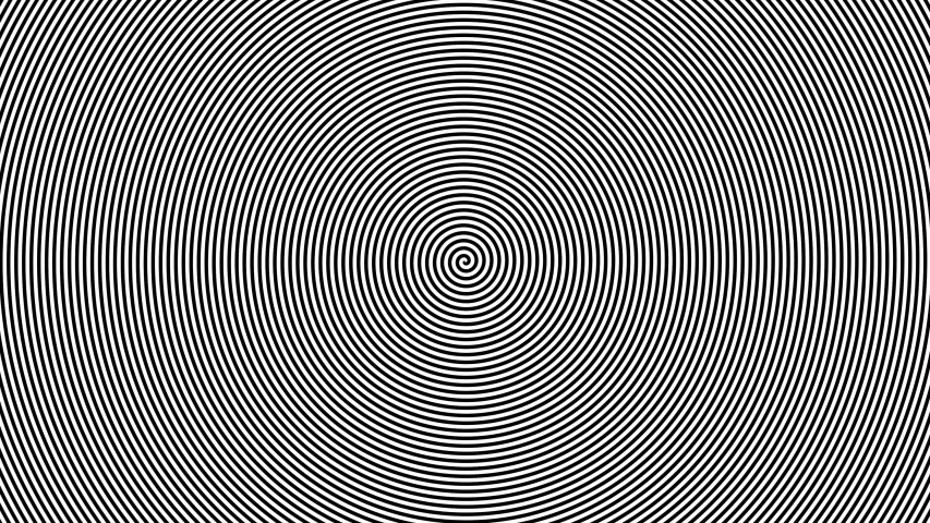 Black and white abstract circular hypnotic background. black-hypnotically hypnotic behind spinning in a circle