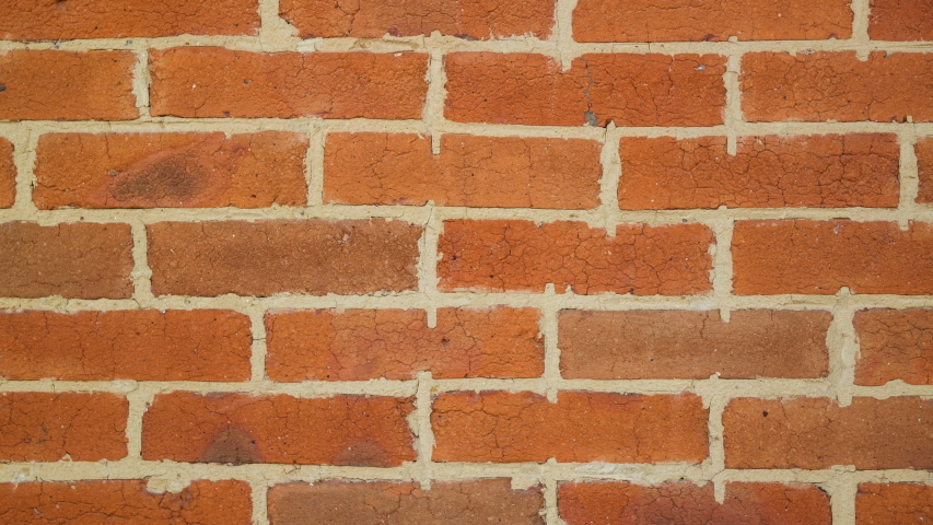 Zooming beautiful hand made red brick wall, loft interior. Qualitative full hd footage. | Shutterstock HD Video #1054710992