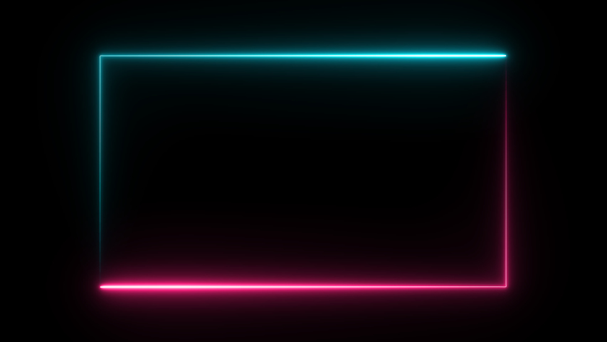 Neon Light Motion Abstract Background Square shape Abstract background Neon scene Pattern LED Screen Technology. | Shutterstock HD Video #1054714142
