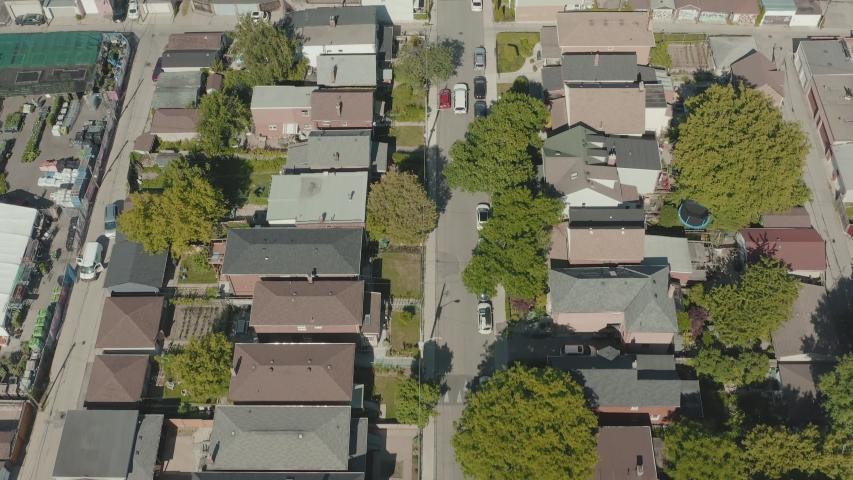 4K Aerial Establishing shot of a Toronto neighborhood. Cinematic shot. | Shutterstock HD Video #1054714616