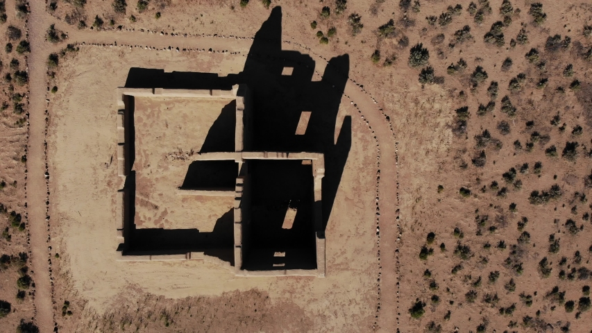 Top view of adobe ruins at Fort Churchill Nevada.