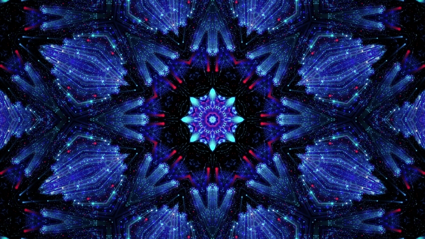Abstract fractal flower, Abstract kaleidoscope background, Mandala ornament flower. | Shutterstock HD Video #1054716449