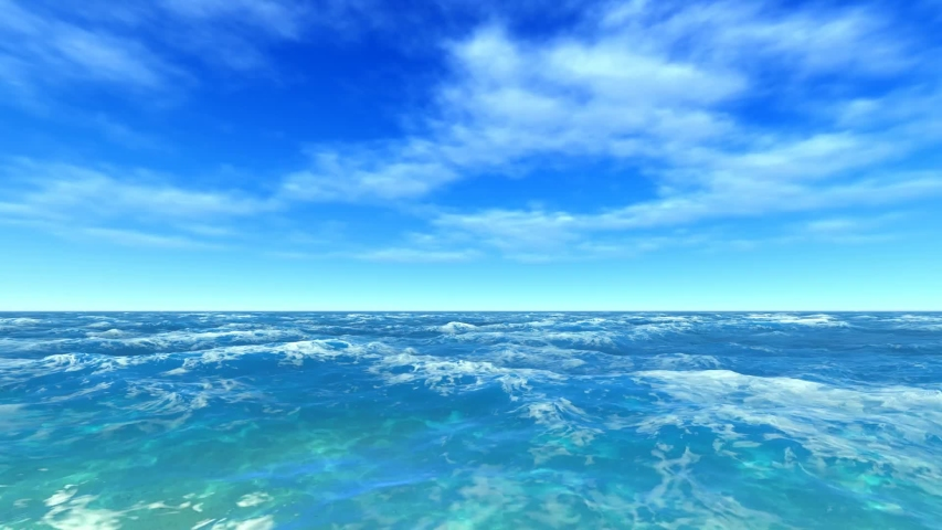 Beautiful water  blue sky sea animated video background