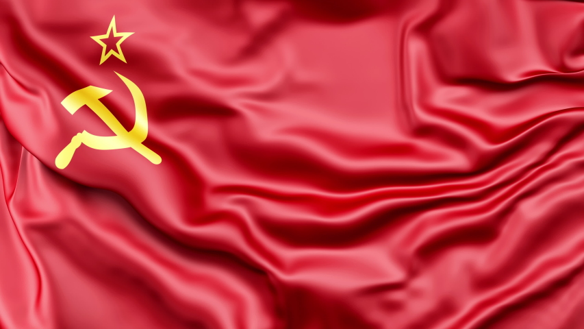 A high-quality footage of 3D USSR flag fabric surface background animation    Shutterstock HD Video #1054717067