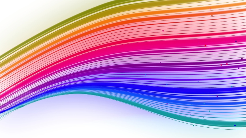 Multi-colored waving lines or ribbon of beautiful stripes fly in the air, smoothly oscillation and wave on white background. 3d abstract looped creative 4k background with luma matte. | Shutterstock HD Video #1054718759