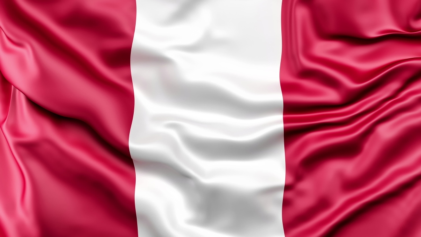 A high-quality footage of 3D Peru flag fabric surface background animation