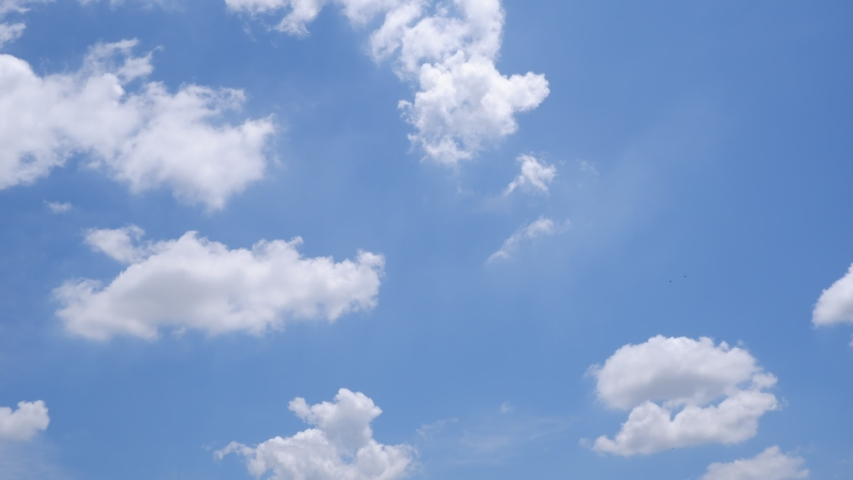 Time lapse motion the clouds are moving fast on the sky in the daytime bright. | Shutterstock HD Video #1054723775
