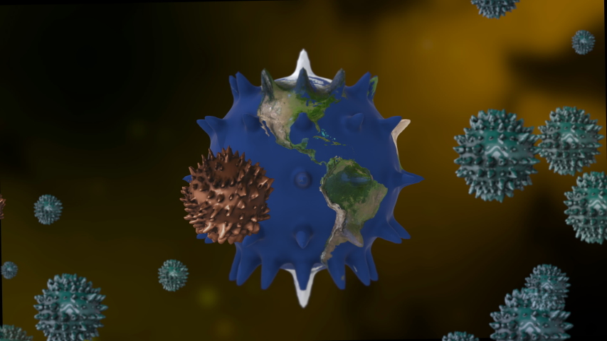 3D animation of the antibodies fight against the virus that absorbed our planet. | Shutterstock HD Video #1054725749