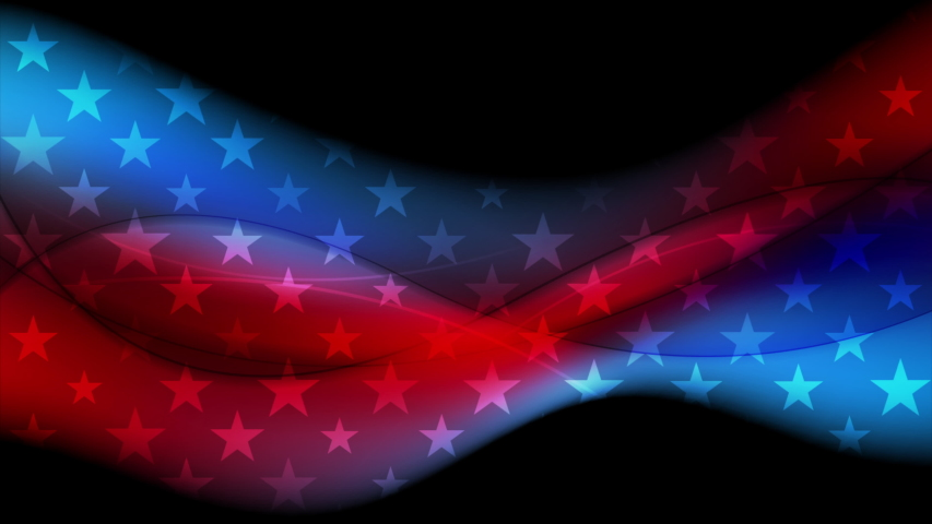 USA flag colors and stars abstract wavy american motion background. Video animation Ultra HD 4K 3840x2160 | Shutterstock HD Video #1054727183