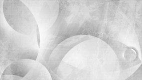 Geometric grey circles abstract hi-tech grunge motion backgroud. Video animation Ultra HD 4K 3840x2160