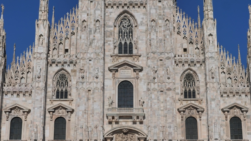 Milano dome details, Lombardy, Italy | Shutterstock HD Video #1054729364