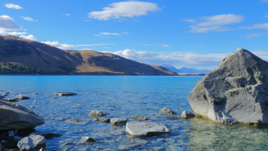 Calming and relaxing at the Tekapo Lake in New Zealand.