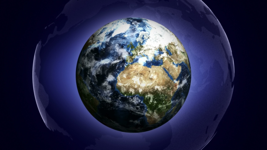 Earth and Blue Universe Background, Animation, Loop, 4k  | Shutterstock HD Video #1054733060
