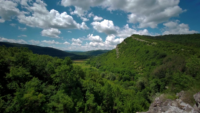 Hyperlapse video of the Yantra river meanders near the Balkan mountain