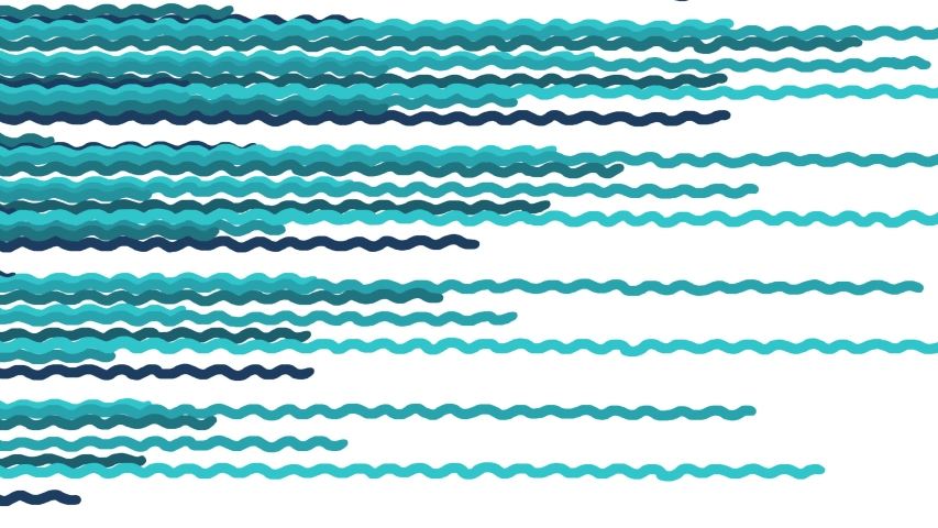 Moving sea waves cartoon animation. Summer holidays theme. Good for intro opener or background for titles. | Shutterstock HD Video #1054734989