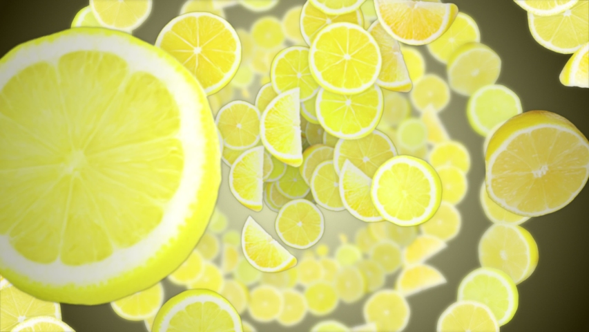 Falling Lemons and Rings,Background, Animation, with Alpha Matte, Loop, 4k  | Shutterstock HD Video #1054735814