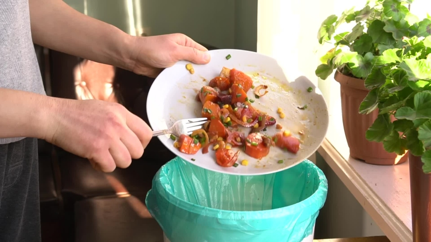 Throwing away uneaten food at home. Household Food Waste. Over-Preparing — household food waste is the result of people cooking or serving too much food.  Composting