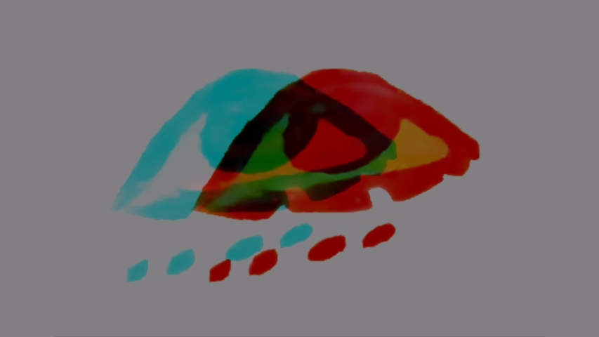 Anaglyph 3D Egyptian one-eyed symbol,