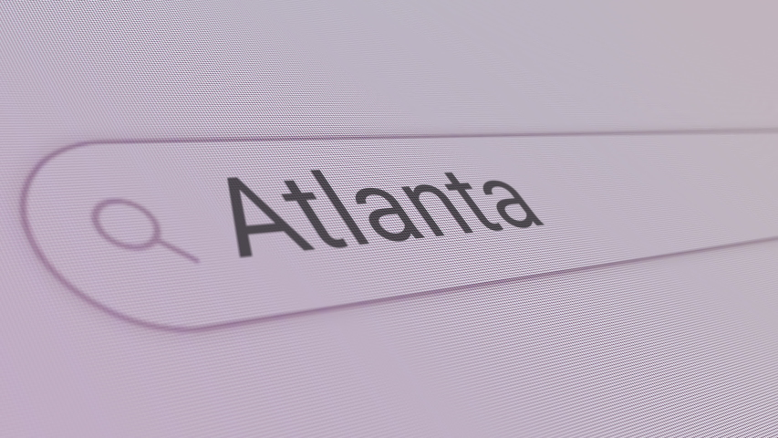 Atlanta Search Bar  Close Up Single Line Typing Text Box Layout Web Database Browser Engine Concept | Shutterstock HD Video #1054787615