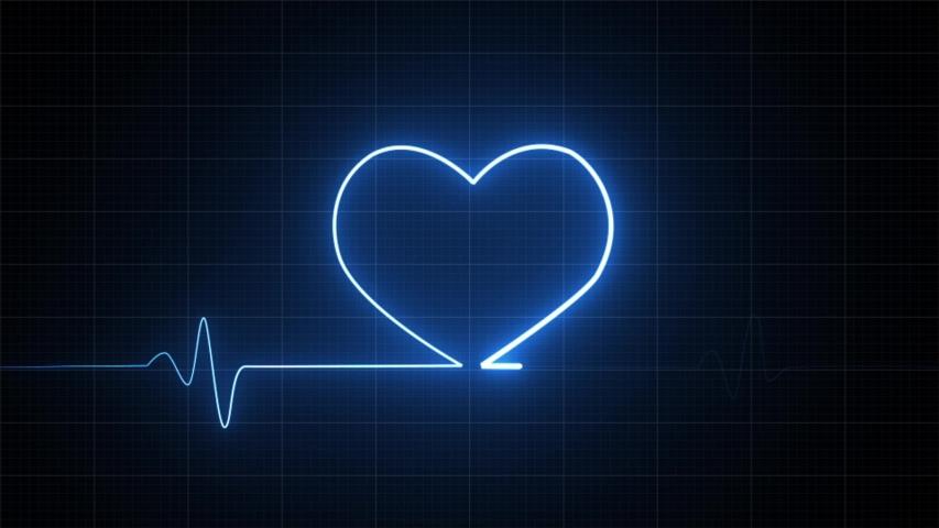 Heart rate monitors electrocardiogram EKG or ECG looping background   Shutterstock HD Video #1054806320