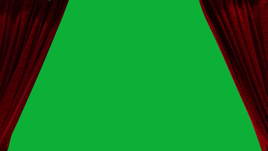 The Best Curtains Pack on Green screen Background - Red Curtains Opening and closing 4K animation Package  | Shutterstock HD Video #1054813568