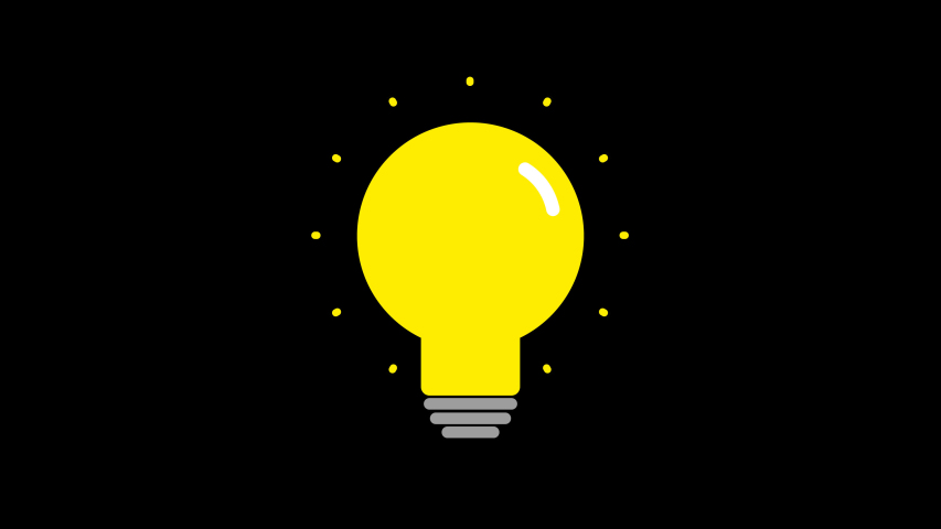 Light bulb icon animation cartoon light bulb video footage, 4K	  | Shutterstock HD Video #1054831937