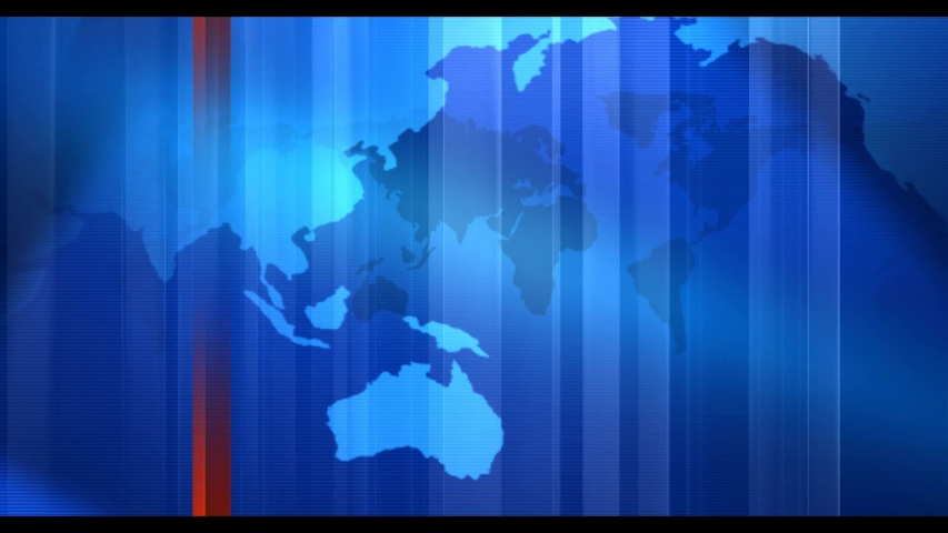 Digital World Map News Studio Background
