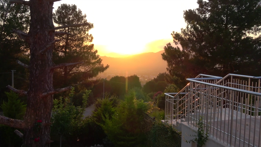 Fethiye, Turkey - 11th of June 2020: 4K Stairways to the nature and declining sun light  | Shutterstock HD Video #1054869266
