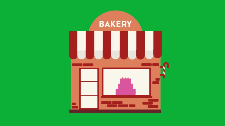Bakery shop Animated icon on Green screen background - 4K animation | Shutterstock HD Video #1054903907