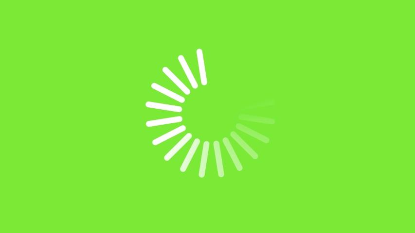 Loading Circle, video. Download progress, preloader animation web design template, interface buffering upload. Animation of UI element in 4K. Chroma key green screen. Progress loading bar. Royalty-Free Stock Footage #1054922297