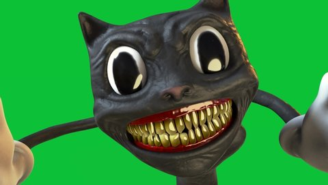Black Cartoon Cat Stock Video Footage 4k And Hd Video Clips
