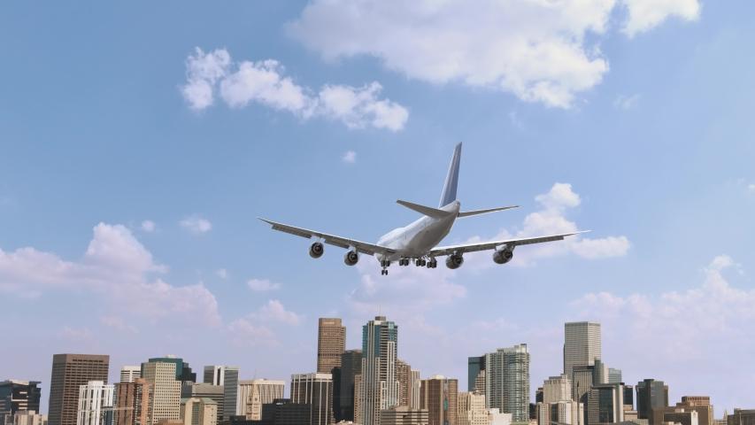 Airplane Landing in Denver USA | Shutterstock HD Video #1055009669