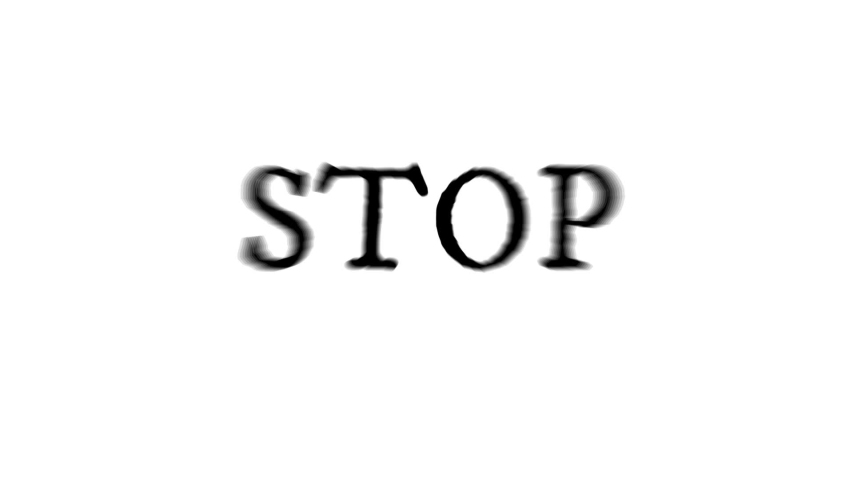 """Animated Video Text / Motivational Phrase """"Stop Complaining and Do Something"""""""