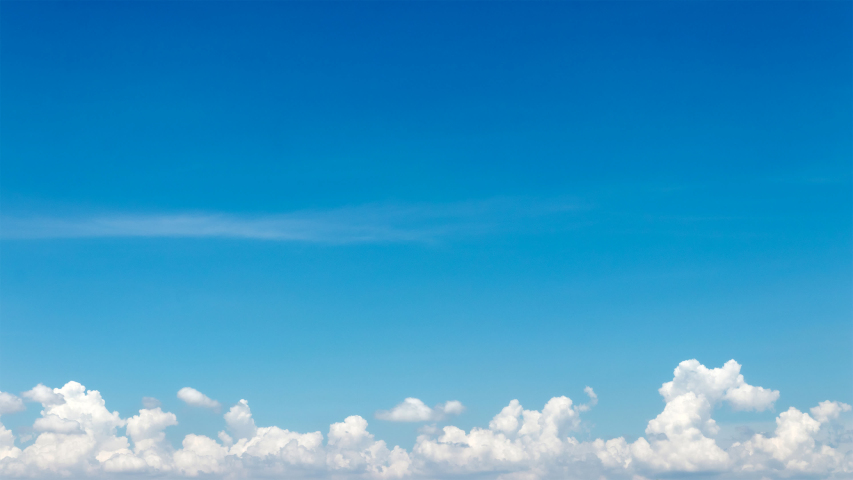 Time-lapse clear blue sky with cloud scape, Cloud flying in blue sky, Multiple Exposure, 4K, Timelapse.