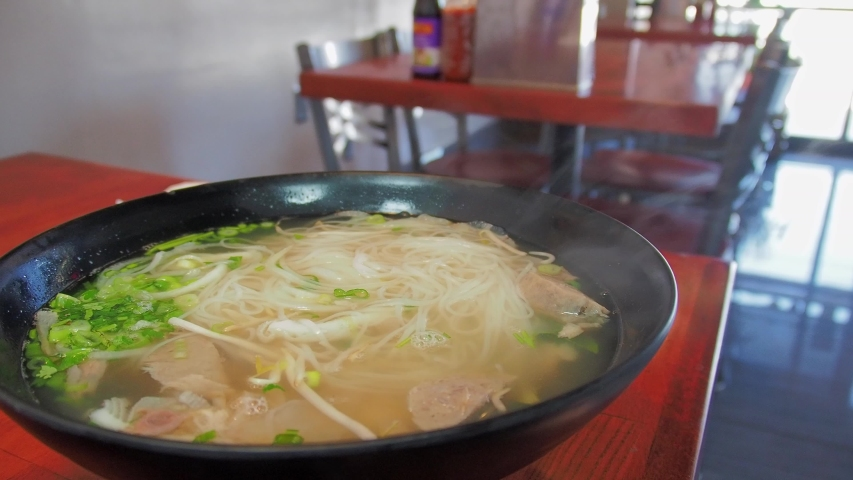 Close up shot of a hot traditional PHO at Las Vegas, Nevada | Shutterstock HD Video #1055070248