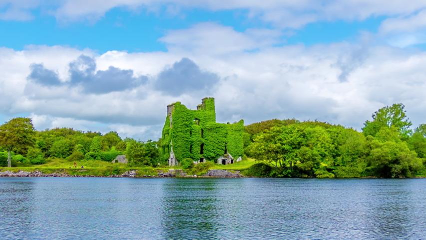 Menlo Castle in Galway Ireland, a beautiful time lapse. | Shutterstock HD Video #1055071907