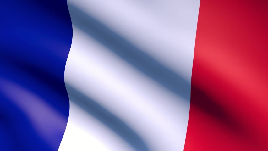 France flag waving in the wind. Realistic flag background.3d rendering   Shutterstock HD Video #1055104568