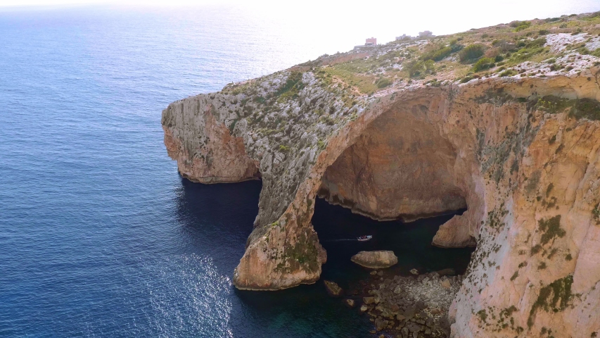 Blue Grotto in Malta is a famous landmark on the island - travel photography