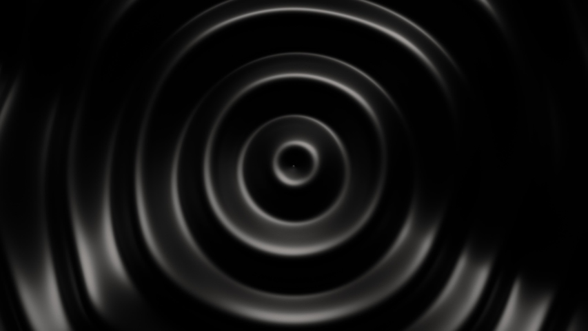 3d render background of dark black abstract pattern of liquid concentric ripples. 4k seamless loop animation. Business presentation background. | Shutterstock HD Video #1055121554