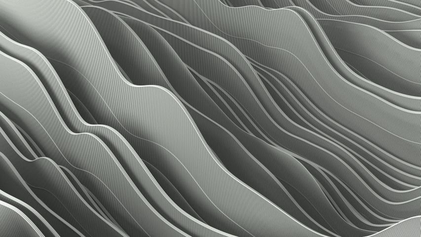 3d render background of rippling white abstract wave stripes pattern of rippling moving stripes. 4k seamless loop animation. Business presentation background. | Shutterstock HD Video #1055121560