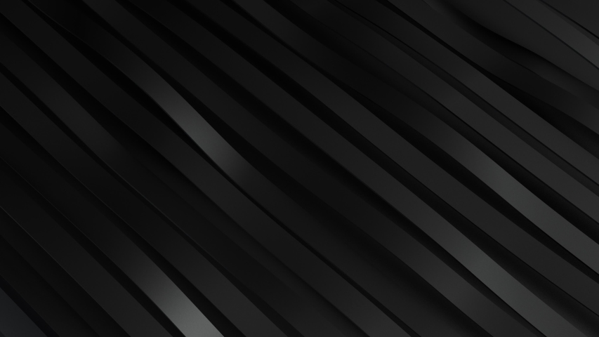 3d render background of rippling dark black abstract wave stripes pattern of moving lines. 4k seamless loop animation. Business presentation background. | Shutterstock HD Video #1055121566