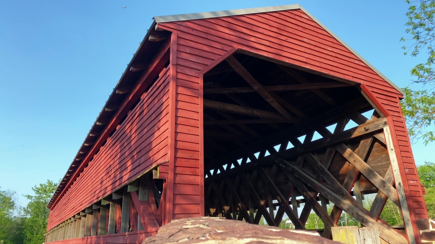 Sach's Covered Bridge, famous Army soldier crossing during American Civil War, Gettysburg, PA