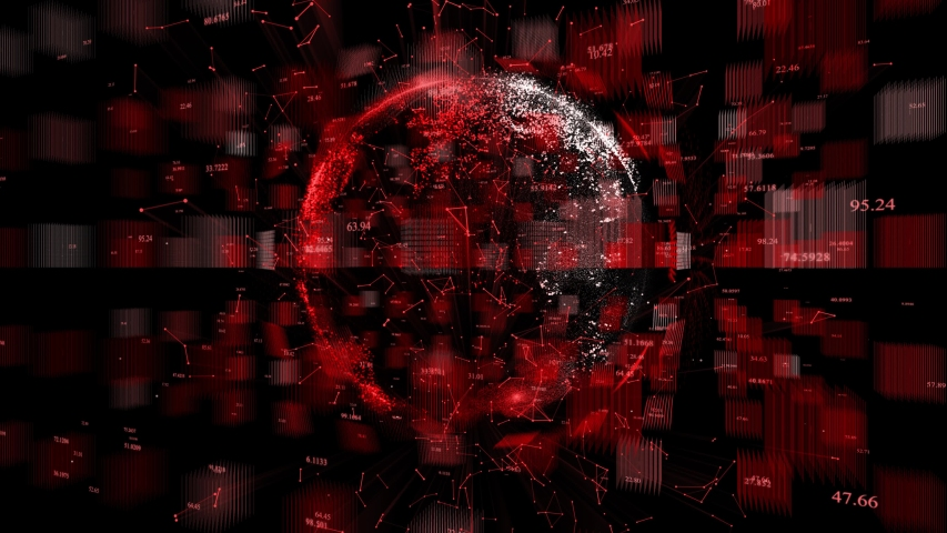 4k digital data globe,a scientific tech data network surrounding planet earth conveying connectivity,Satellite data download,complexity and data flood of digital age.Business figure wall | Shutterstock HD Video #1055146748