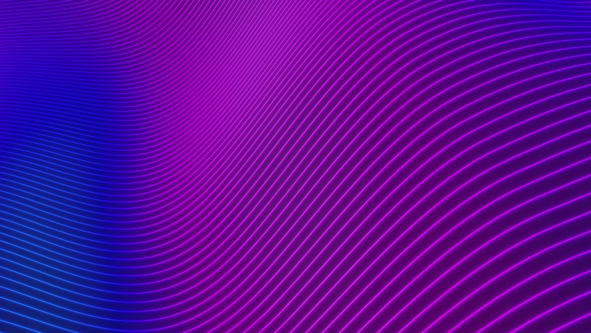 Looped animation. Abstract colorful wavy background in bright neon colors. Modern colorful wallpaper. 3d rendering.