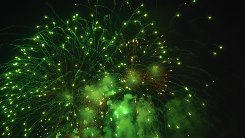 The fireworks in the night sky | Shutterstock HD Video #1055153291