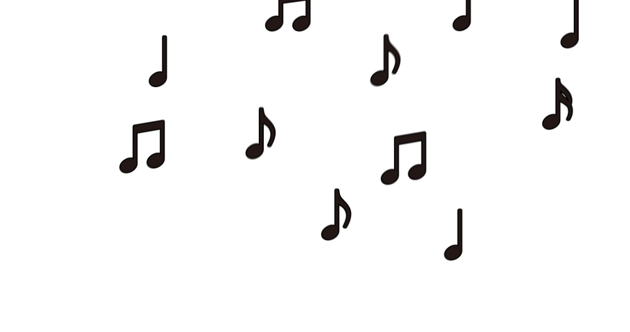 Flying Musical Notes Loopable animation.  | Shutterstock HD Video #1055158562
