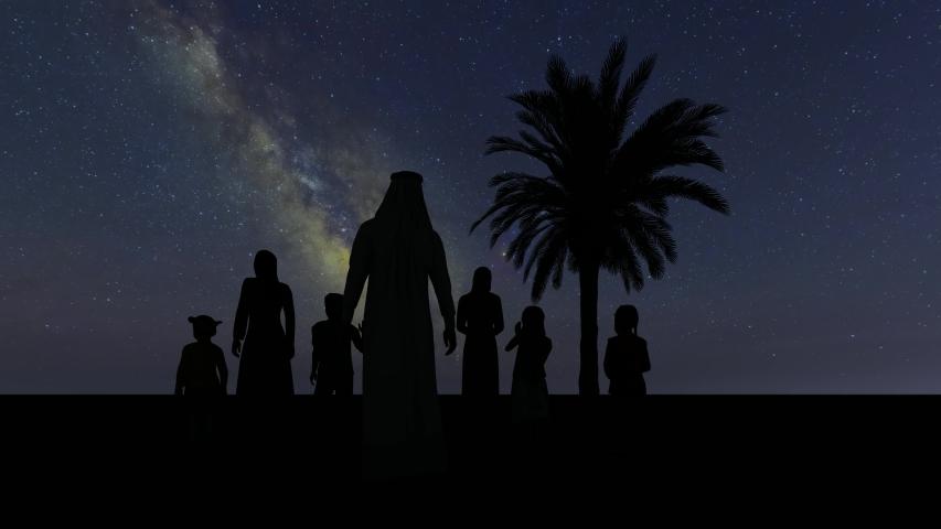 Saudi Arab parents Muslim character on stars 4k