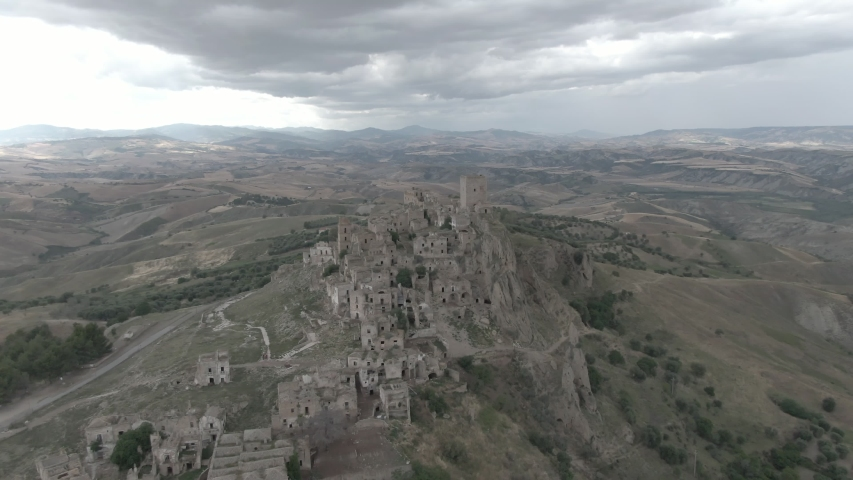 Craco is a ghost town located in Italy. Her beauty has inspired several directors for certain scenes in their films.