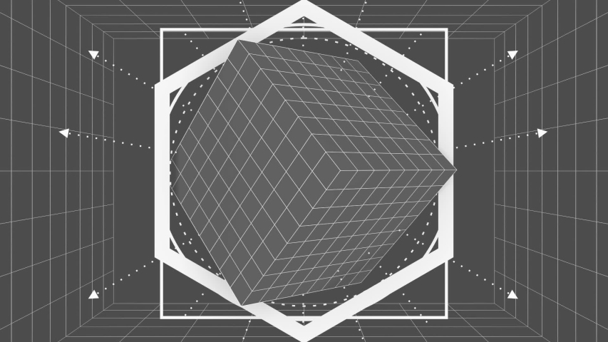 Mystery, witchcraft, occult and alchemy geometry. Mystical vintage gothic thin lines style background. 3D rendering   Shutterstock HD Video #1055201927