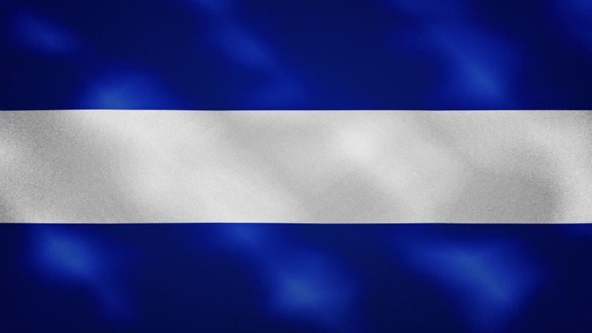 El Salvador dense flag fabric wavers, perfect loop for background